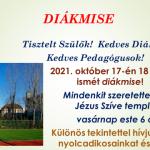 Október 17-én vasárnap ismét diákmise lesz!