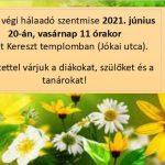 Hálaadó szentmise 2021. június 20-án